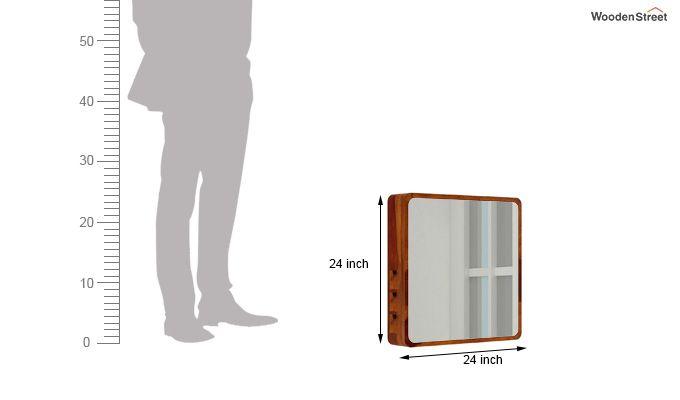Augus Mirror Side Storage (Honey Finish)-5