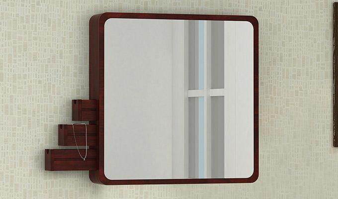 Augus Mirror Side Storage (Mahogany Finish)-1