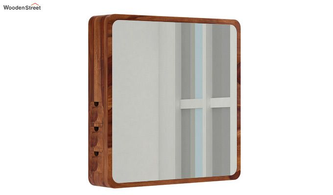 Augus Mirror Side Storage (Teak Finish)-1