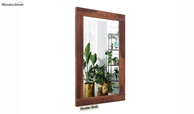 Bacon Mirror With Frame (Teak Finish)-2