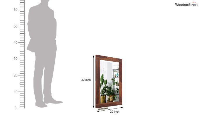 Bacon Mirror With Frame (Teak Finish)-4
