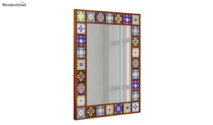 Boho Mirror With Frame (Honey Finish)-2