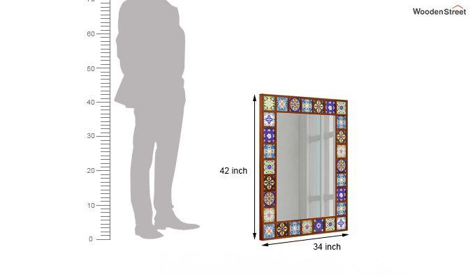 Boho Mirror With Frame (Honey Finish)-4