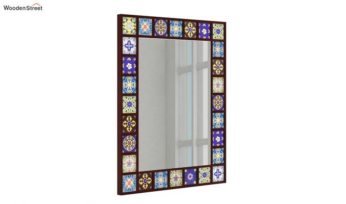 Boho Mirror With Frame (Mahogany Finish)-1