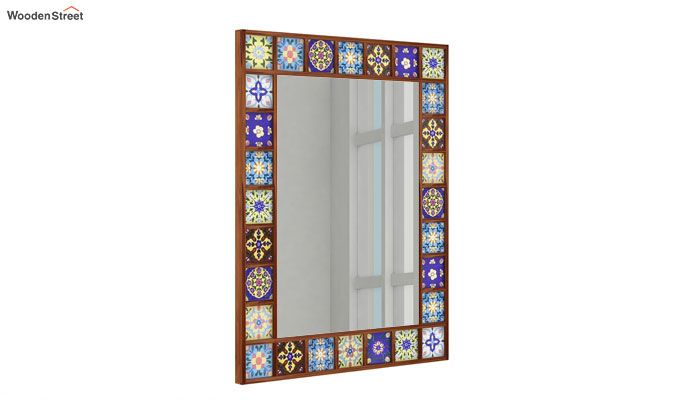 Boho Mirror With Frame (Teak Finish)-1