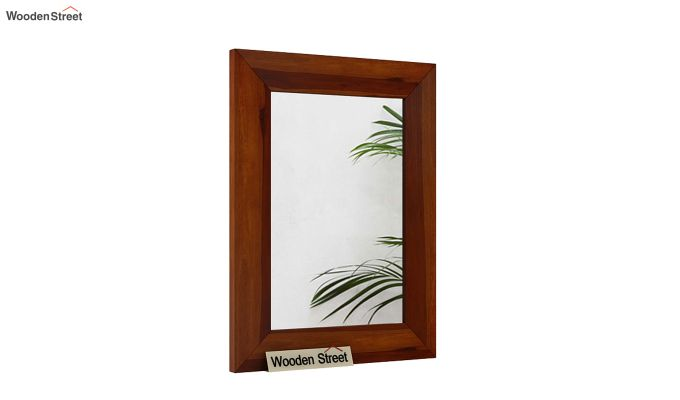 Cali Mirror With Frame (Honey Finish)-2