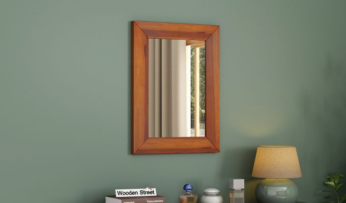 Cali Mirror With Frame (Honey Finish)-1