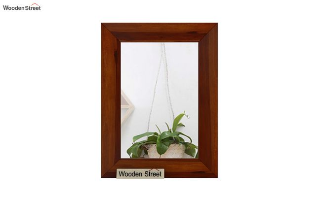Cali Mirror With Frame (Honey Finish)-3