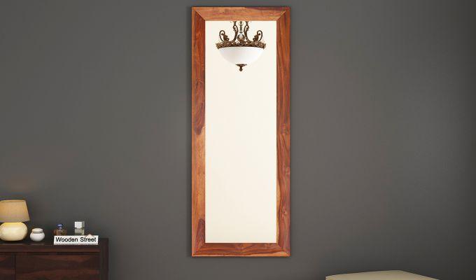 Cali Tall Mirror With Frame (Teak Finish)-1