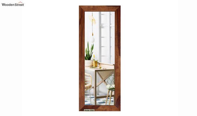 Cali Tall Mirror With Frame (Teak Finish)-3