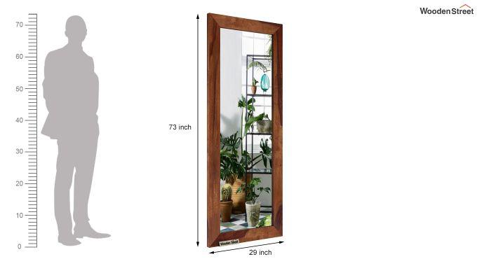 Cali Tall Mirror With Frame (Teak Finish)-4