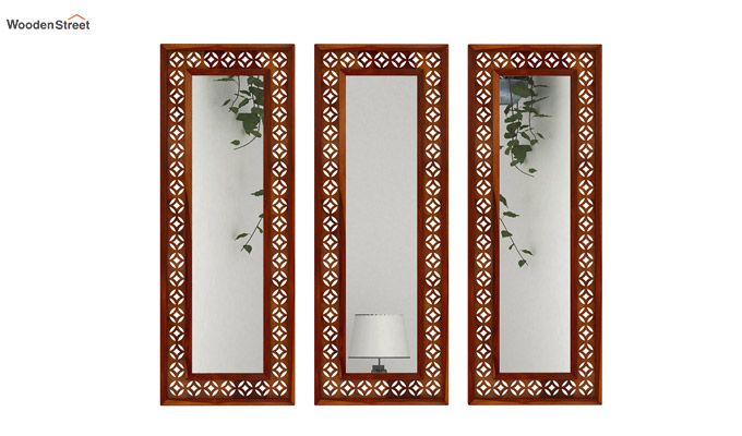 Cambrey Set Of 3 Mirror With Frame (Honey Finish)-1
