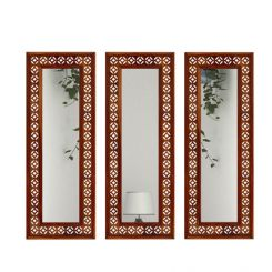 Cambrey Set Of 3 Mirror With Frame (Honey Finish)