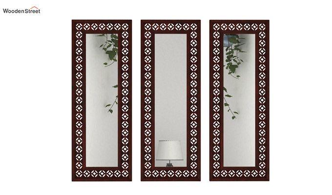 Cambrey Set Of 3 Mirror With Frame (Mahogany Finish)-1