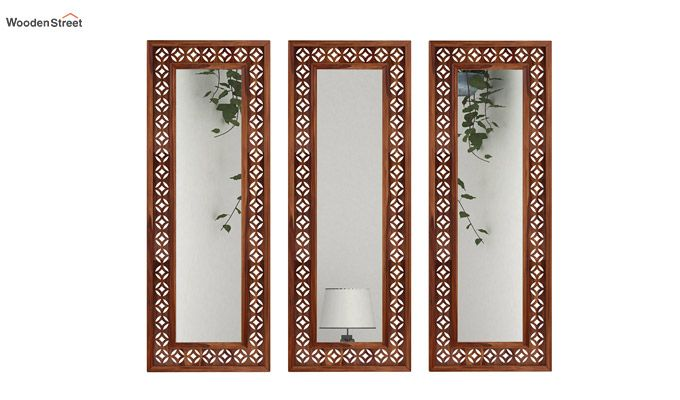 Cambrey Set Of 3 Mirror With Frame (Teak Finish)-1