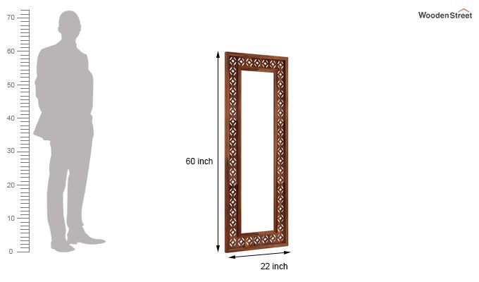 Cambrey Set Of 3 Mirror With Frame (Teak Finish)-3