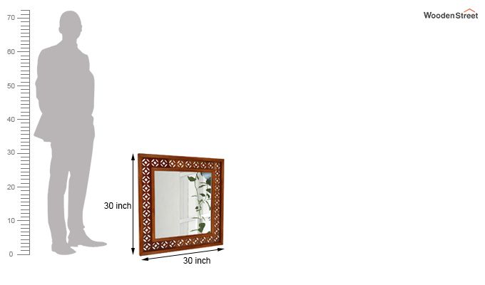 Cambrey Mirror With Frame (Honey Finish)-4