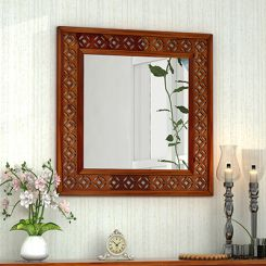 Cambrey Mirror With Frame (Honey Finish)