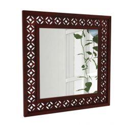 Cambrey Mirror With Frame (Mahogany Finish)