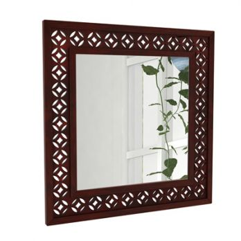 Cambrey Mirror With Frame (Mahogany Finish)