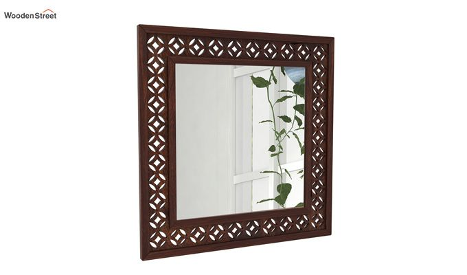 Cambrey Mirror With Frame (Walnut Finish)-1