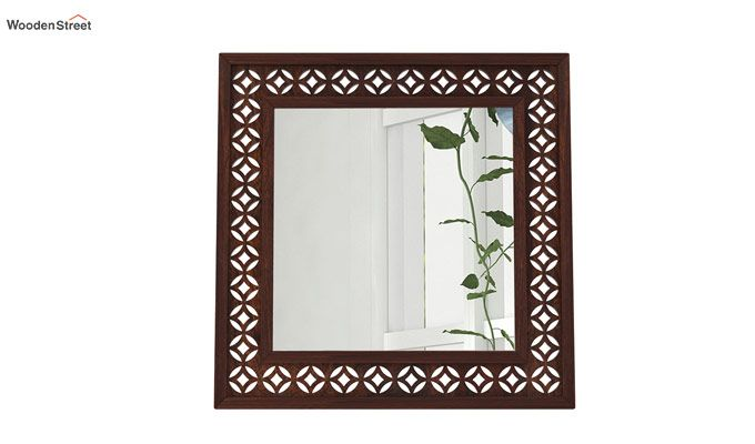 Cambrey Mirror With Frame (Walnut Finish)-2