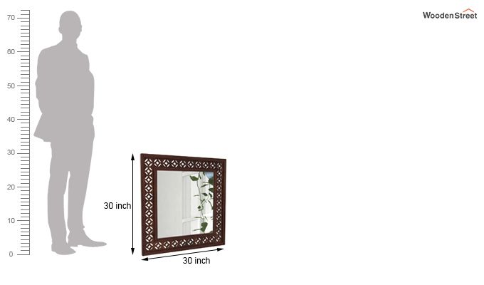 Cambrey Mirror With Frame (Walnut Finish)-3