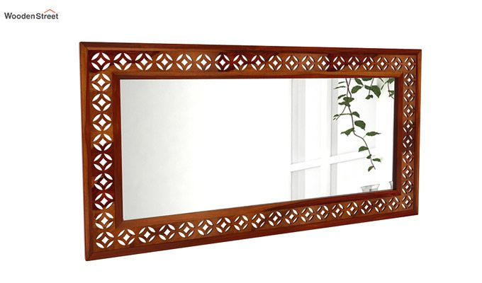Cambrey Rectangle Mirror With Frame (Honey Finish)-1