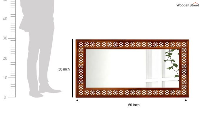 Cambrey Rectangle Mirror With Frame (Honey Finish)-3