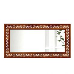 Cambrey Rectangle Mirror With Frame (Honey Finish)