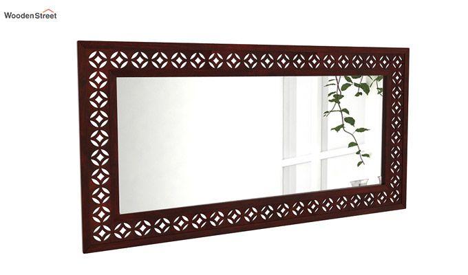 Cambrey Rectangle Mirror With Frame (Mahogany Finish)-1