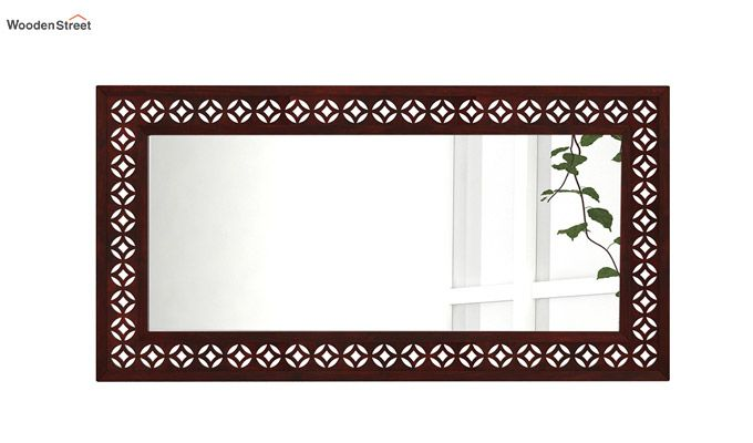 Cambrey Rectangle Mirror With Frame (Mahogany Finish)-2