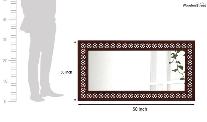 Cambrey Rectangle Mirror With Frame (Mahogany Finish)-3