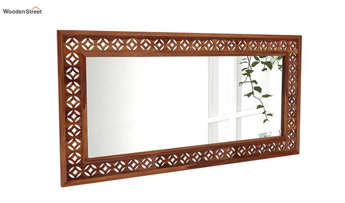 Cambrey Rectangle Mirror With Frame (Teak Finish)-1