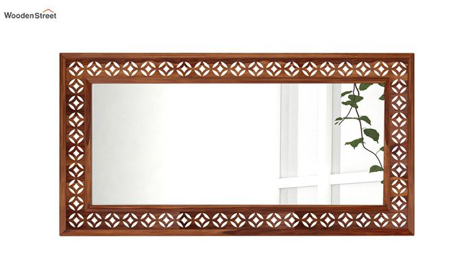 Cambrey Rectangle Mirror With Frame (Teak Finish)-2