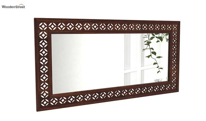 Cambrey Rectangle Mirror With Frame (Walnut Finish)-2