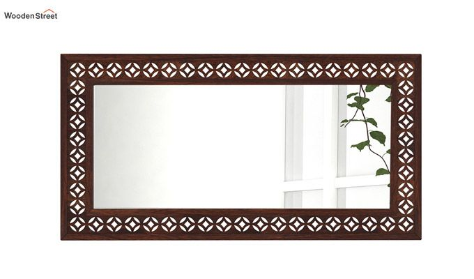 Cambrey Rectangle Mirror With Frame (Walnut Finish)-3