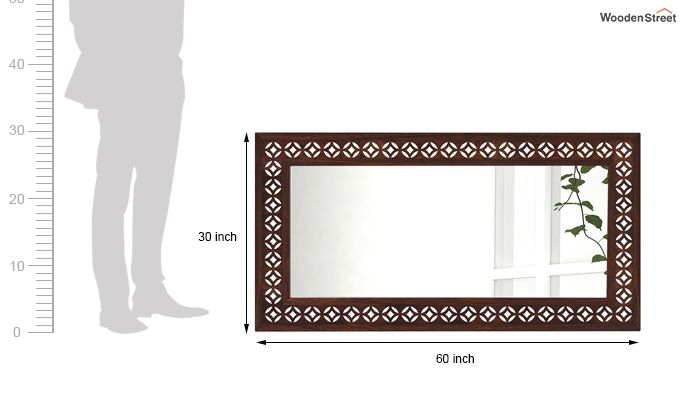 Cambrey Rectangle Mirror With Frame (Walnut Finish)-4