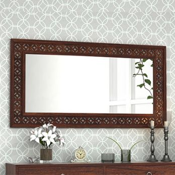 wooden mirror frame design