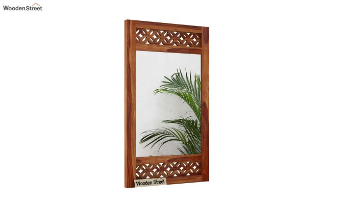 Cambrey Side Stripped Mirror With Frame (Teak Finish)-2