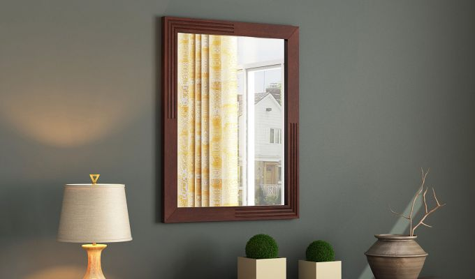 Connor Mirror With Frame (Mahogany Finish) (Mahogany Finish)-1