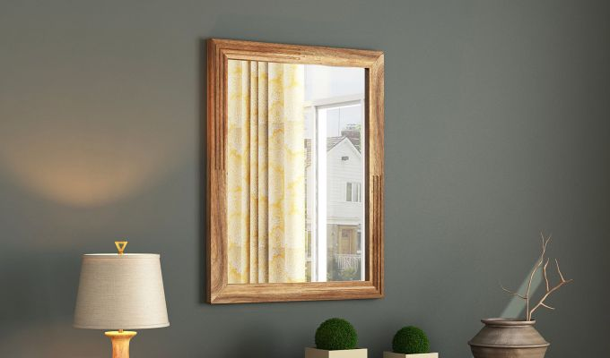 Connor Mirror With Frame (Natural Finish) (Natural Finish)-1