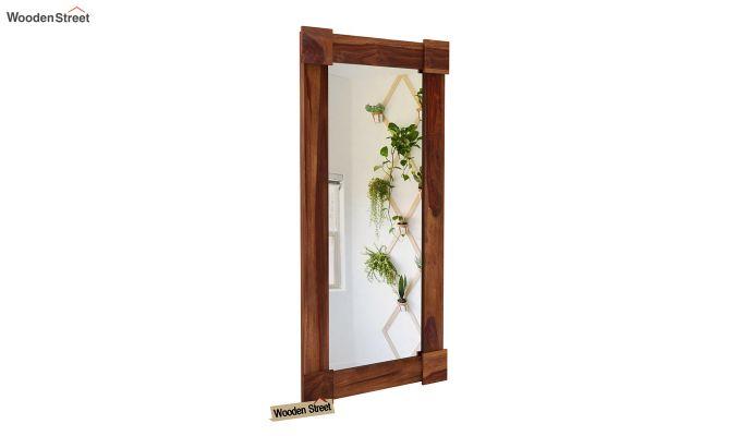 Cuba Decor Mirror With Frame (Teak Finish)-2