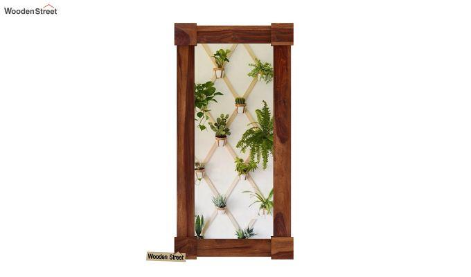 Cuba Decor Mirror With Frame (Teak Finish)-3