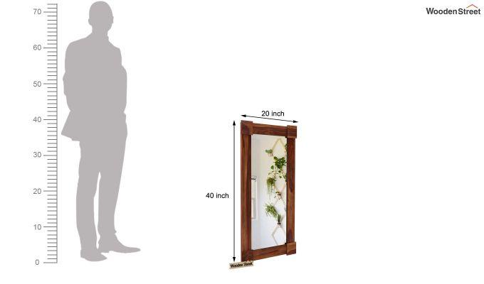 Cuba Decor Mirror With Frame (Teak Finish)-4