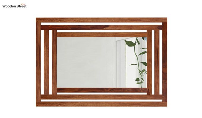 Douglas Mirror With Frame (Teak Finish)-2