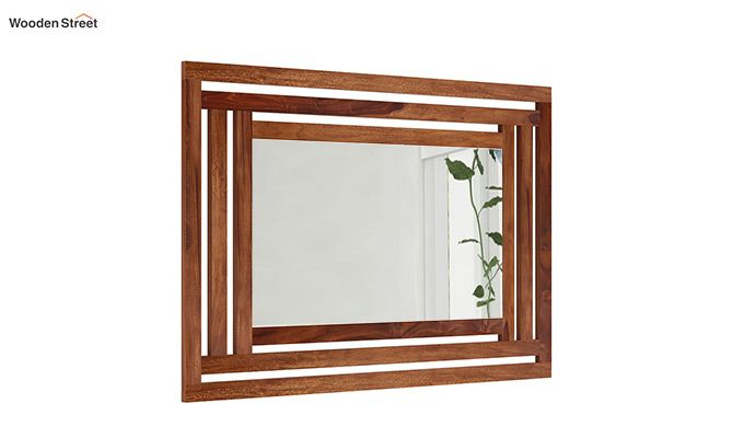 Douglas Mirror With Frame (Teak Finish)-1