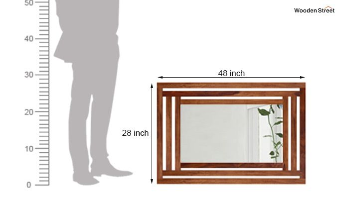 Douglas Mirror With Frame (Teak Finish)-3
