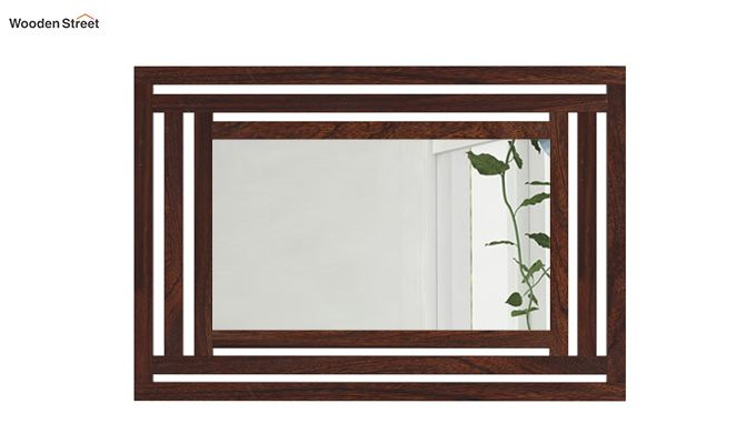 Douglas Mirror With Frame (Walnut Finish)-2