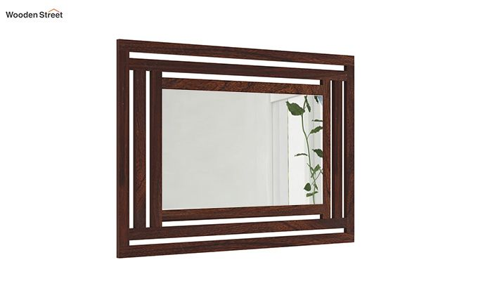 Douglas Mirror With Frame (Walnut Finish)-1